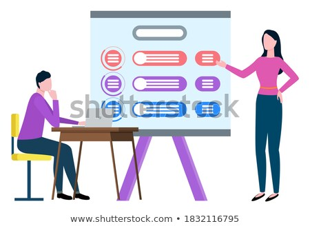 Finance Strategy, Broker Collaboration Vector Stock photo © robuart