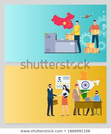 Produceren China mensen Indië ingesteld Stockfoto © robuart