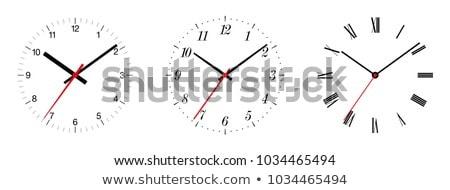 Analoog klok klassiek wijzend een vijftig Stockfoto © szefei