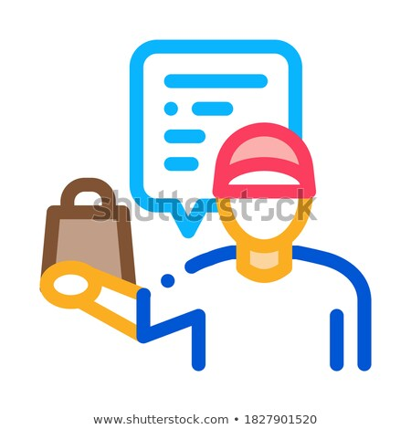 takeaway seller icon vector outline illustration Stock photo © pikepicture