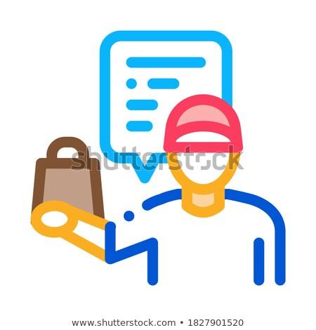Vendeur icône vecteur illustration signe Photo stock © pikepicture