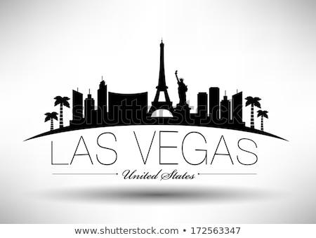 Las Vegas bianco nero silhouette semplice turismo Foto d'archivio © ShustrikS