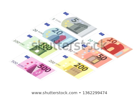 Flat two hundreds euro banknote in isometric view on white Stock photo © evgeny89