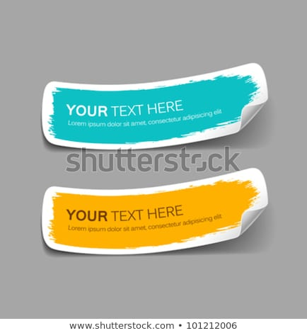Vector Set Of Announcement Abstract Label Tags Stock fotó © Sarunyu_foto