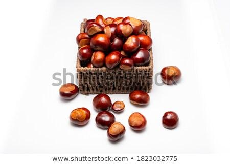 Basket with chestnuts stock photo © Antonio-S