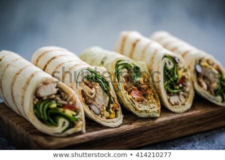 fresco · carne · presunto · legumes · queijo - foto stock © m-studio