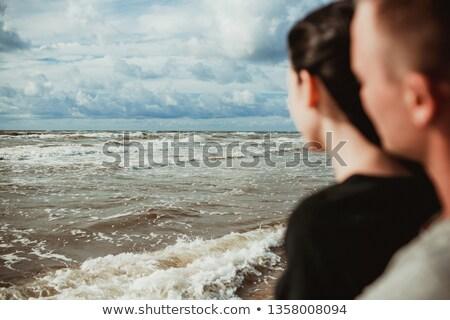 Tükröződő pár néz víz nők férfiak Stock fotó © photography33