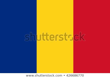 Bayrak Romanya büyük boyut örnek ülke Stok fotoğraf © tony4urban