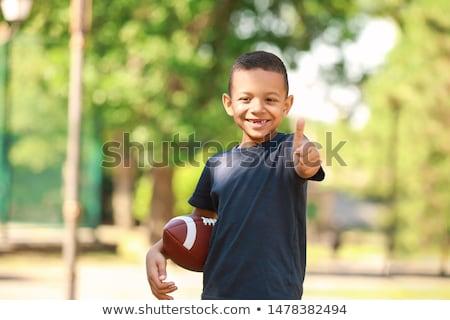 portret · jongen · voetbal - stockfoto © wavebreak_media