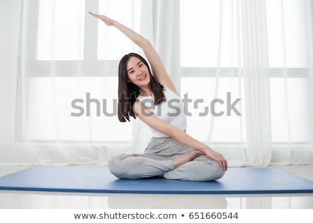 woman on white floor stock photo © nobilior