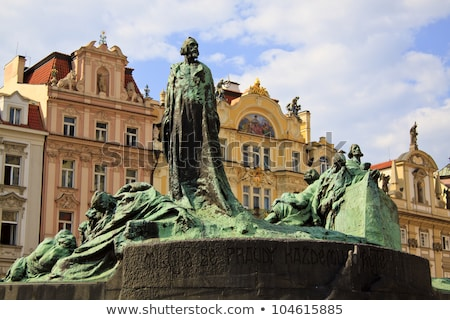 Jan Hus Statue, Old Town Square,,, Stock photo © AndreyPopov