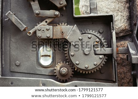 time for change in silver grey gears Stock photo © marinini