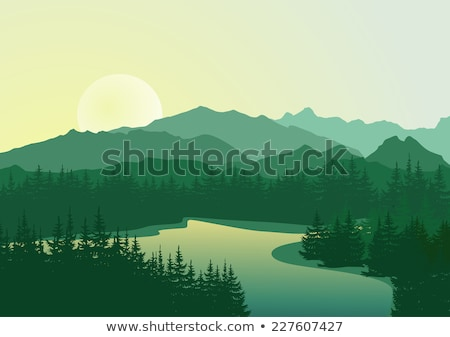 Sierra Mountain Lake Stock photo © pancaketom