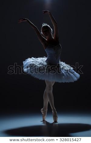 美しい · バレリーナ · ポーズ · 青 · スタジオ · フラッシュ - ストックフォト © master1305