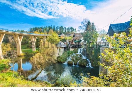 Cachoeiras Croácia belo natureza aldeia primavera Foto stock © smuki