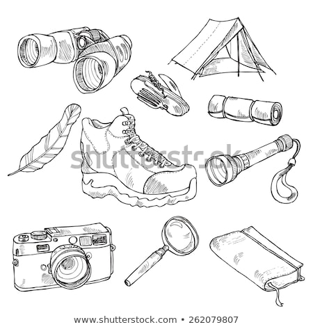 sziluett · sátor · ikon · buli · művészet · nyár - stock fotó © rastudio