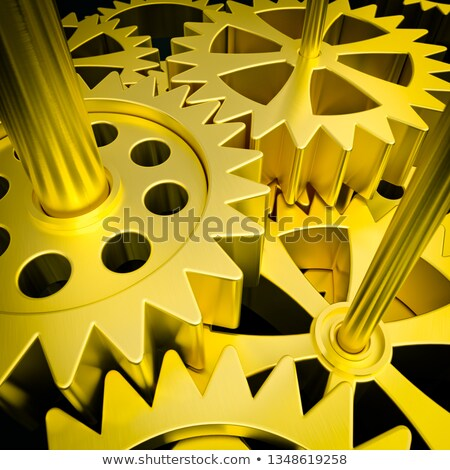 Affaires coopération or mécanisme métallique Photo stock © tashatuvango