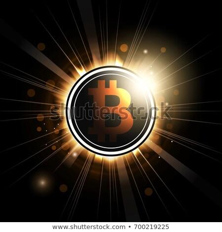 Fogyatkozás vektor érme szimbólum valuta net Stock fotó © tashatuvango