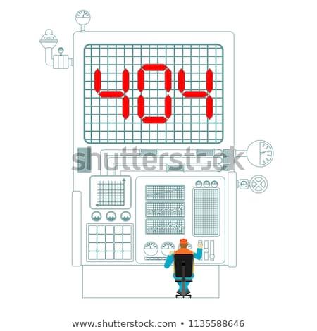 Fehler 404 Produktion Ausfall Seite nicht Stock foto © popaukropa