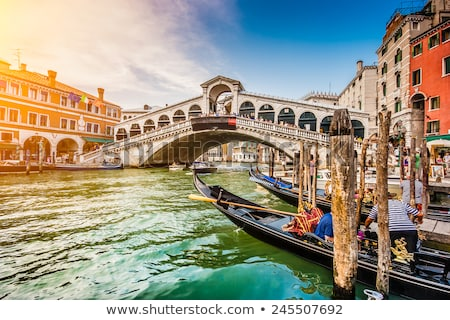 pont · Venise · Italie · vue · printemps · fleurs - photo stock © neirfy