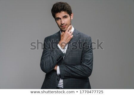 Afbeelding kaukasisch zakenman 30s formeel pak Stockfoto © deandrobot