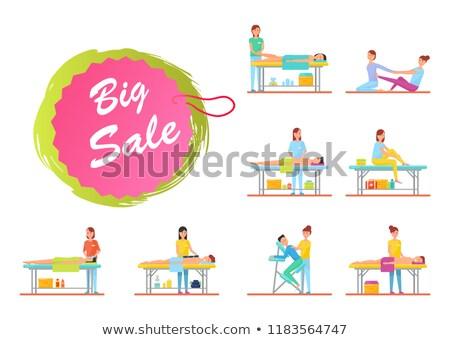 Big Sale on Massage Massaging Procedures Set Vector Stock photo © robuart
