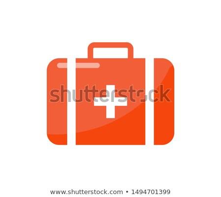 Premiers soins valise cartoon style isolé badge Photo stock © robuart