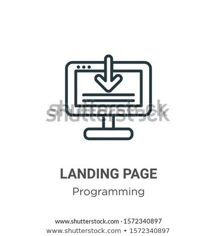 Copywriting concept landing page. Stock photo © RAStudio