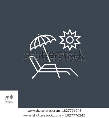 Lounge · Председатель · зонтик · иллюстрация · удобный · лет - Сток-фото © smoki