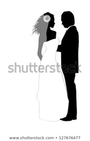 組織 · 結婚式 · 女性 · アーク · カップル · 花 - ストックフォト © robuart