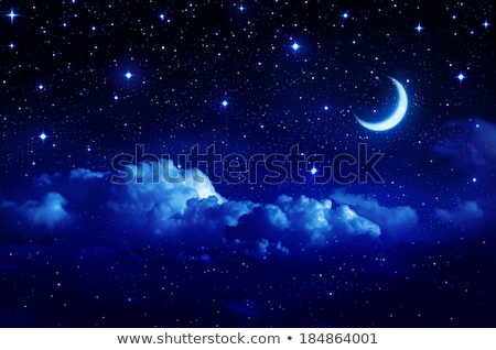 moon star and clouds fantasy background Stock photo © SArts