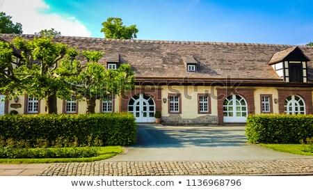 Abdij Duitsland een gras gebouw geschiedenis Stockfoto © borisb17
