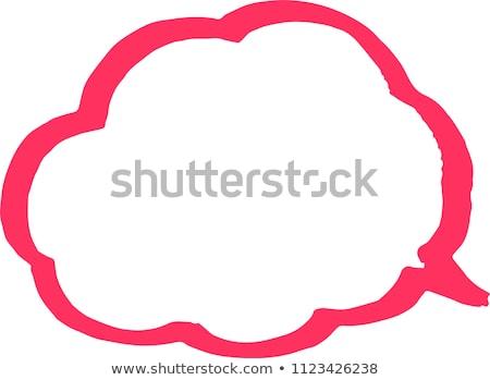 Meleg szín szöveglufi vonal felhő Stock fotó © Blue_daemon