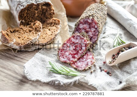 French sausages with herbs Stock photo © boggy