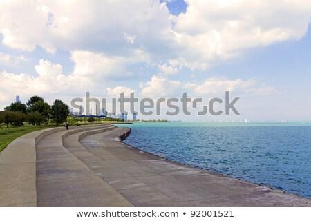 Chicago cinza arranha-céus blue sky céu Foto stock © ShustrikS