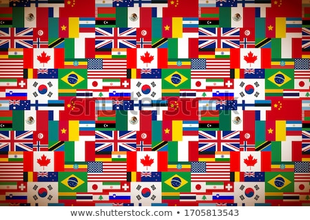 Bright flags of sovereign states wide background Stock photo © evgeny89