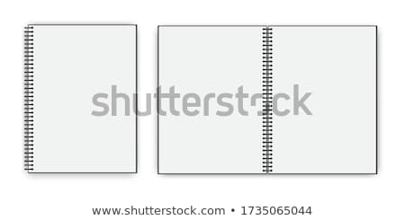 Nyitva spirál notebook kinyitott oldal copy space Stock fotó © dehooks