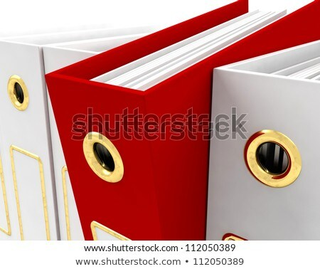 Red File Amongst White Closeup For Getting Office Organized Stock photo © stuartmiles