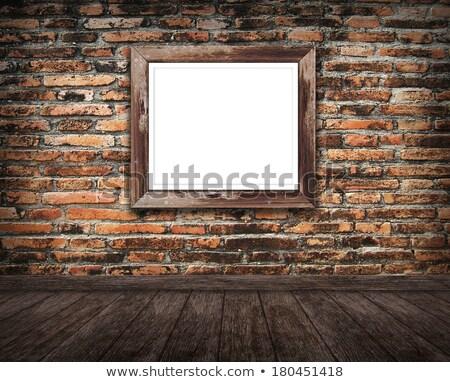 Muur oude Rood veel Stockfoto © pixelsnap