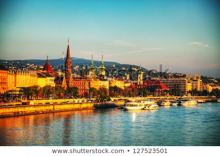 overview of budapest as seen from szechenyi bridge stock photo © andreykr