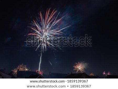 fireworks over red stock photo © robertosch