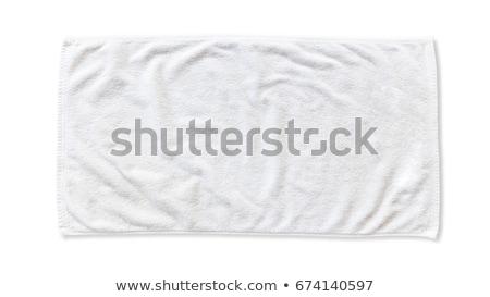 пляжное полотенце изолированный белый пляж весны дизайна Сток-фото © kitch