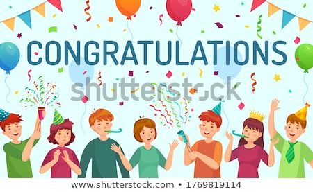 gongratulations with girl Stock photo © compuinfoto