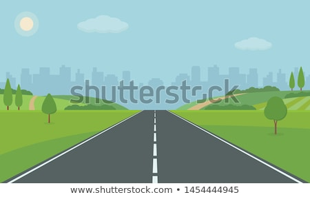 Straight Road and buildings Stock photo © zzve