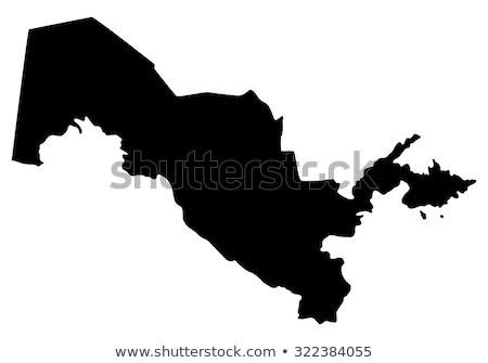 Preto Uzbequistão mapa administrativo cidade país Foto stock © Volina