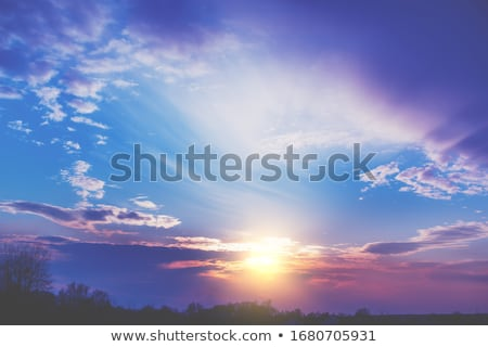 Sunset cloudscape Stock photo © leungchopan