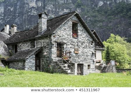 Piedra casas alpes verano paisaje alpino Foto stock © Antonio-S