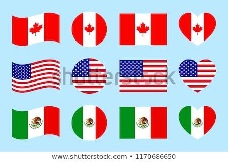 カナダ · サッカー · ファン · フラグ · セクシー - ストックフォト © krisdog