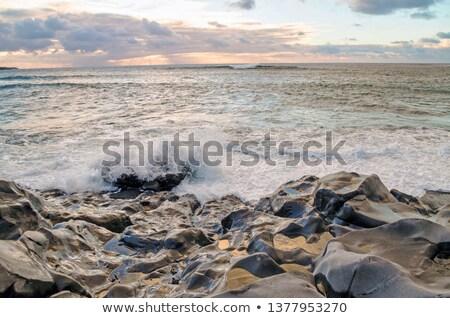 scenic sunset at the coastline in Janubio, Lanzarote Stock photo © meinzahn