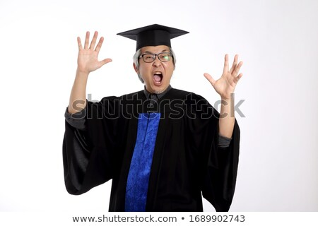 Frustrated senior male graduate screaming Stock photo © bmonteny